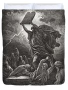 Moses Breaking The Tablets Of The Law Duvet Cover