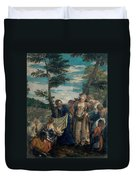 Moses Saved From The Waters Duvet Cover