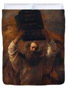 Moses With The Ten Commandments Duvet Cover