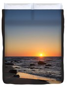 Moshup Beach Sunrise Duvet Cover