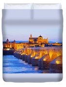 Mosque-cathedral And The Roman Bridge In Cordoba Duvet Cover