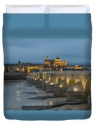 Mosque Cathedral Of Cordoba Also Called The Mezquita And Roman Bridge Duvet Cover