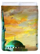 Mosque Jordan Duvet Cover by Catf