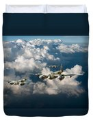Mosquitos Above Clouds Duvet Cover