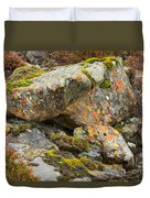 Moss And Lichens In The Scottish Highlands Duvet Cover