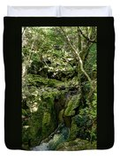 Moss And Stones By The Turquoise Forest Pond On A Summer Day No4 Duvet Cover