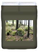 Moss-covered Boulder Duvet Cover