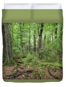Moss Covered Trees In Forest, Lord Duvet Cover