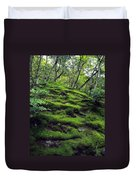 Moss Forest In Kyoto Japan Duvet Cover