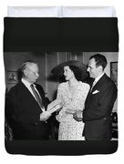 Moss Hart And Kitty Carlisle Duvet Cover