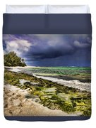 Moss Rocks Duvet Cover