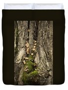 Moss-shrooms On A Tree Duvet Cover