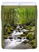 Mossy Mountain Stream Duvet Cover