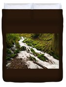 Mossy River Flowing. Duvet Cover