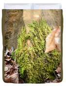 Mossy Rock Abstract 2013 Duvet Cover