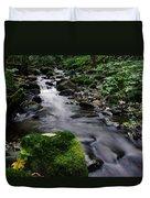 Mossy Rock Streamside Duvet Cover