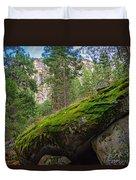 Mossy Rocks Along Vernal Falls Trail Duvet Cover