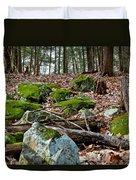 Mossy Rocks Duvet Cover