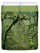 Mossy Trees Leafless In The Winter Duvet Cover