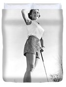 Most Beautiful Golfer Of 1957 Duvet Cover