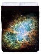 Most Detailed Image Of The Crab Nebula Duvet Cover
