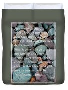Most Powerful Prayer With Beachrocks Duvet Cover