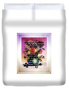 Most Powerful Prayer With Flowers In A Vase Duvet Cover