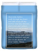 Most Powerful Prayer With Ocean View Duvet Cover