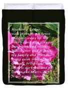 Most Powerful Prayer With Peony Bush Duvet Cover