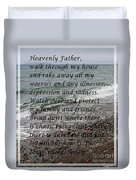Most Powerful Prayer With Seascape Duvet Cover