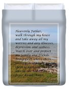 Most Powerful Prayer With Seashore Duvet Cover