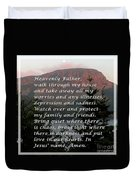 Most Powerful Prayer With Sunset And Moon Duvet Cover