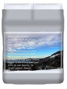 Most Powerful Prayer With Winter Scene Duvet Cover