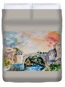 Mostar Bridge Duvet Cover
