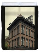 Motel Facade Duvet Cover