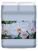Moth Orchids Duvet Cover