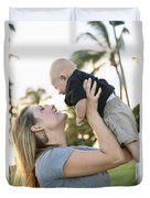 Mother And Baby Duvet Cover by Brandon Tabiolo