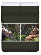 Mother And Baby Moose Duvet Cover