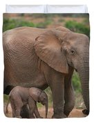 Mother And Calf Duvet Cover
