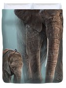 Mother And Child Duvet Cover by Aaron Blaise
