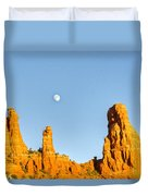 Mother And Child And Moon 21 Duvet Cover