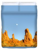 Mother And Child And Moon 25 Duvet Cover