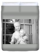 Mother And Child Statue Duvet Cover