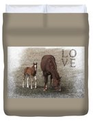 Mother And Son Love Duvet Cover