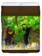 Mother Bear And Cub Duvet Cover