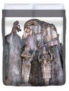 Mother Divine Temple - Amarkantak India Duvet Cover