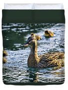 Mother Duck Duvet Cover