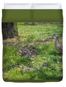 Mother Duck With Nest Duvet Cover
