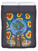 Mother Earth The Beginning Of Time Duvet Cover