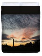 Mother Nature Painted The Sky Over Washington D C Spectacular Duvet Cover